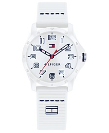 Tommy Hilfiger Kid's White Silicone Strap Watch 32mm, Created For Macy's