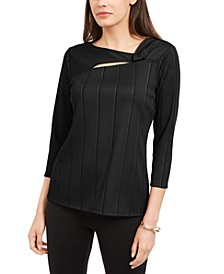 Petite Solid Twist-Neck Top, Created For Macy's