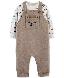 Carter's Baby Boys 2-Pc. Animal-Print T-Shirt & Overalls Set