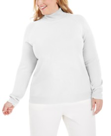 Karen Scott Plus Size Turtleneck Luxsoft Sweater, Created for Macy's
