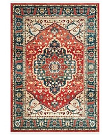 Chloe LRL1221A Red and Navy 10' X 13' Area Rug