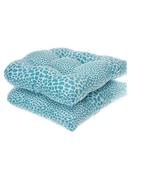 EF Home Decor EF Home Decor Indoor/Outdoor Reversible Wicker Seat Cushions 2 Pack