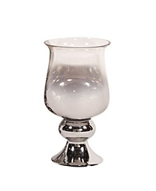 Smokey Glass Hurricane Small Vase