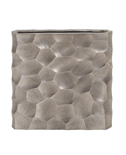 Howard Elliott Hammered Flat Graphite Vase, Small