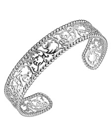 Sterling Silver Filigree Design Cuff Bracelet