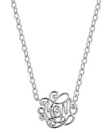 Prime Art & Jewel Sterling Silver Love Design Necklace