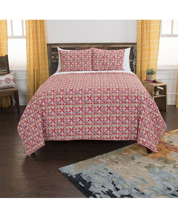 Rizzy Home Riztex USA Lilou Queen 3 Piece Quilt Set
