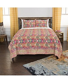Riztex USA Serendipity Queen 3 Piece Quilt Set
