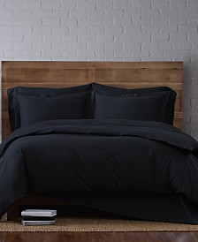 Brooklyn Loom Solid Cotton Percale Twin XL 2-Pc. Duvet Set