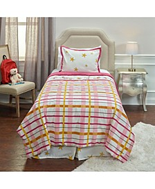 Punk Rock Animal Plaid Twin 2 Piece Comforter Set