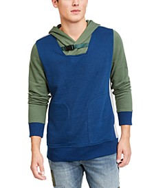 Men's Colorblocked Belted Hoodie, Created For Macy's