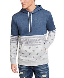 Men's Paisley Blocked Hoodie, Created For Macy's