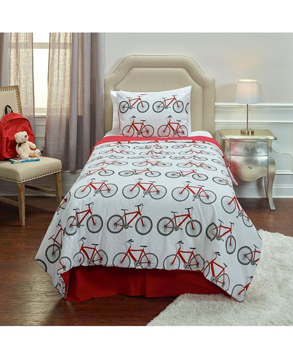 Riztex USA Bicycle Bed Twin 2 Piece Comforter Set