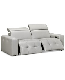 Haigan 2-Pc. Leather Sectional Sofa with 2 Power Recliners, Created for Macy's