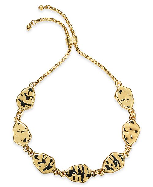 Style & Co Hammered Disc Slider Bracelet, Created for Macy's