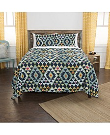 Riztex USA Miles King 3 Piece Quilt Set