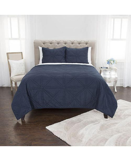 Rizzy Home Riztex USA Simpson King 3 Piece Quilt Set