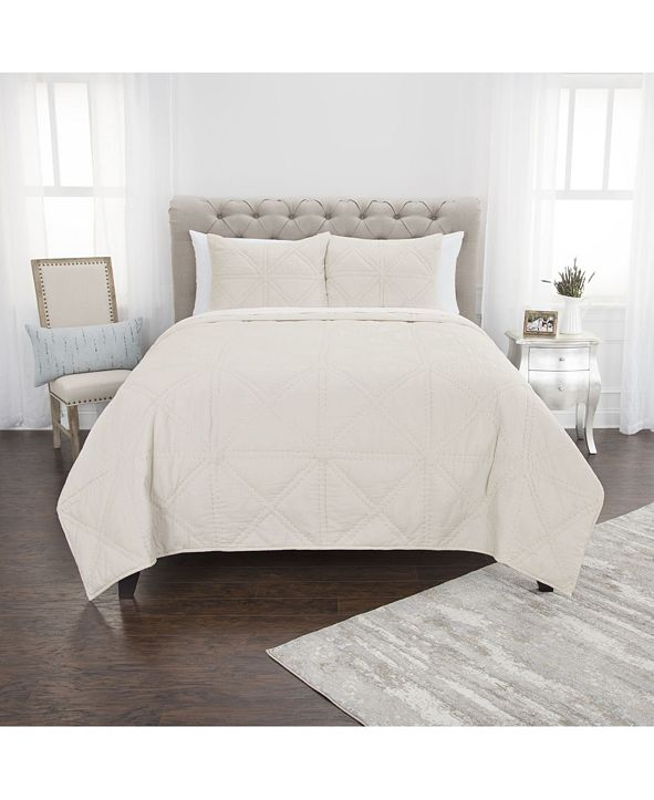 Rizzy Home Riztex USA Simpson Queen 3 Piece Quilt Set