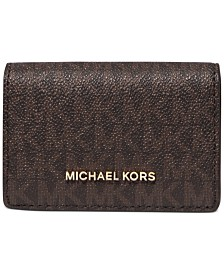 Michael Michael Kors Jet Set Flap Card Case