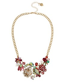 Mixed Floral Bib Necklace
