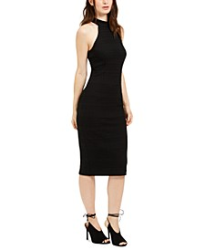 Emotion Mock-Neck Midi Sheath Dress