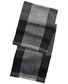 Men's Oversized Buffalo Plaid Scarf