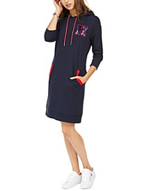 Logo Hoodie Sweatshirt Dress