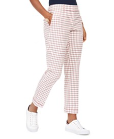 Tommy Hilfiger Gingham Pants, Created for Macy's