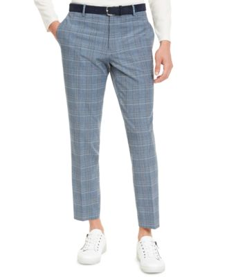 INC Men's Slim-Fit Glen Plaid Pants, Created For Macy's