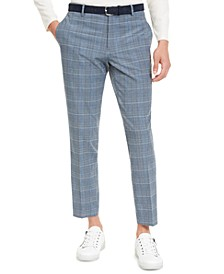 INC Men's Slim-Fit Glen Plaid Pants, Created For Macy's