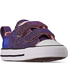 Converse Toddler Girls Chuck Taylor Ox Space Star Stay-Put Closure Casual Sneakers from Finish Line