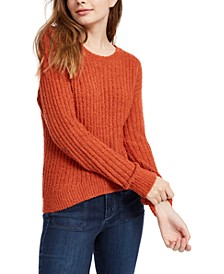 Crave Fame Juniors' Ribbed Cropped Sweater