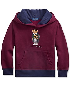 Little Boys Football Bear Fleece Hooded Sweatshirt