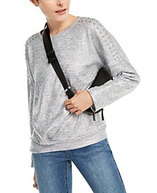 INC Shine Studded Sweatshirt, Created for Macy's