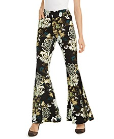 INC Printed Flare-Leg Pants, Created for Macy's