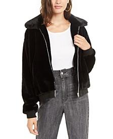 Juniors' Faux-Fur Jacket
