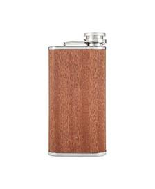 Wood Veneer and Stainless Steel Flask