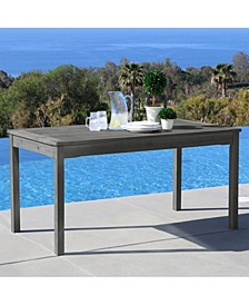 Renaissance Outdoor Rectangular Hand-Scraped Wood Patio Dining Table