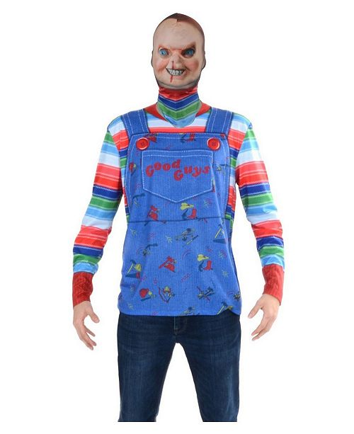 BuySeasons Men's Chucky Mask And Tee Adult Costume