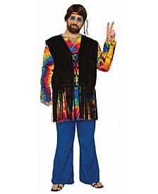 Women's Hippie Tie Dye Dude Plus Adult Costume