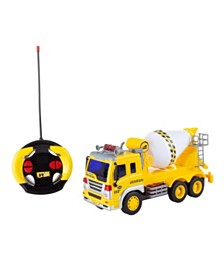 Trademark Global Remote Control Cement Mixer Truck 1:16 Scale