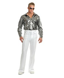 Men's Silver Nail Head Disco Shirt