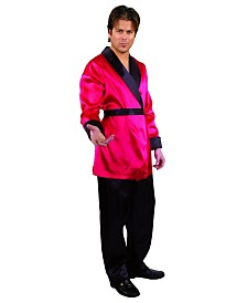 BuySeasons Men's Satin Smoking Jacket Adult Costume