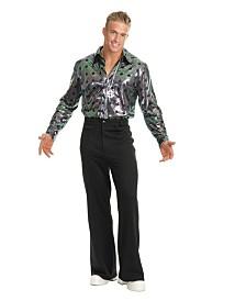 BuySeasons Men's Disco Pants Black