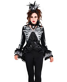 Women's Skeleton Jacket Adult Costume