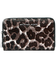 Michael Michael Kors Jet Set Small Zip-Around Card Case