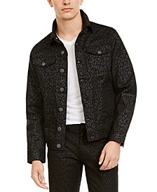 INC Men's Animal Print Trucker Jacket, Created For Macy's