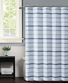 Waffle Stripe Shower Curtain