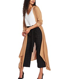 1.STATE Drape-Front Maxi Cardigan Sweater