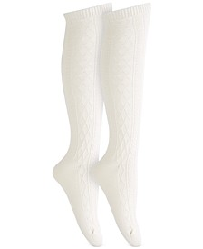 Women's Super Soft Cable Knee Socks